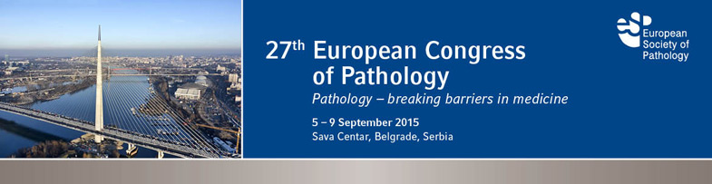 27th European Congress of Pathology in 2015 – ECP BELGRADE 2015 Datum održavanja: 05-09. septembar 2015 Mesto održavanja: Sava Centar, Beograd, Srbija